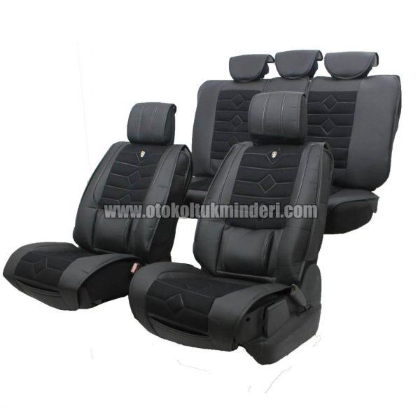 oto koltuk kılıfı lüks deri siyah 600x600 - Oto Koltuk Minderi Lüks 3lü - Siyah