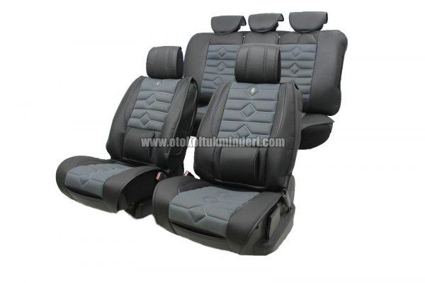 oto koltuk minderi koyu gri 600x400 - Oto Koltuk Minderi Lüks 3lü - Koyu Gri