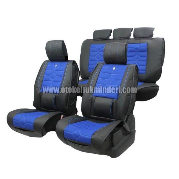 oto koltuk minderi mavi 3lü 600x600 - Oto Koltuk Minderi Lüks 3lü - Siyah Mavi