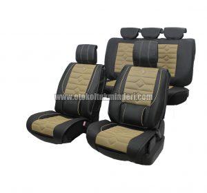 oto koltuk minderi siyah lüks 300x280 - Oto Koltuk Minderi Lüks 3lü - Siyah Bej