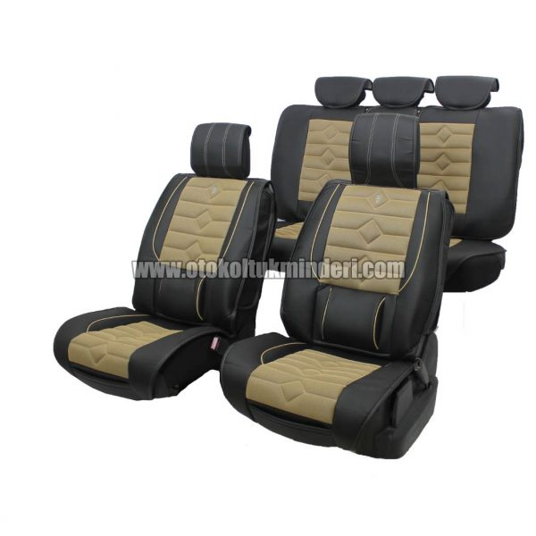 oto koltuk minderi siyah lüks 600x600 - Oto Koltuk Minderi Lüks 3lü - Siyah Bej