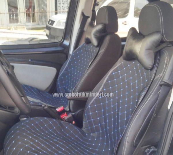 koltuk minderi mavi 600x537 - Oto Koltuk Minderi 3lü Siyah Mavi nakışlı