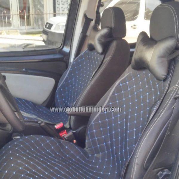 koltuk minderi mavi 600x600 - Oto Koltuk Minderi 3lü Siyah Mavi nakışlı