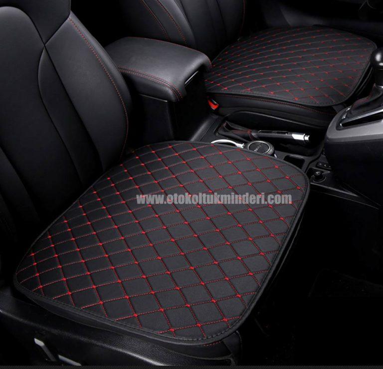 Ford deri minder seti 1 768x739 - Ford Oto Koltuk minderi Serme Deri - Siyah Kırmızı