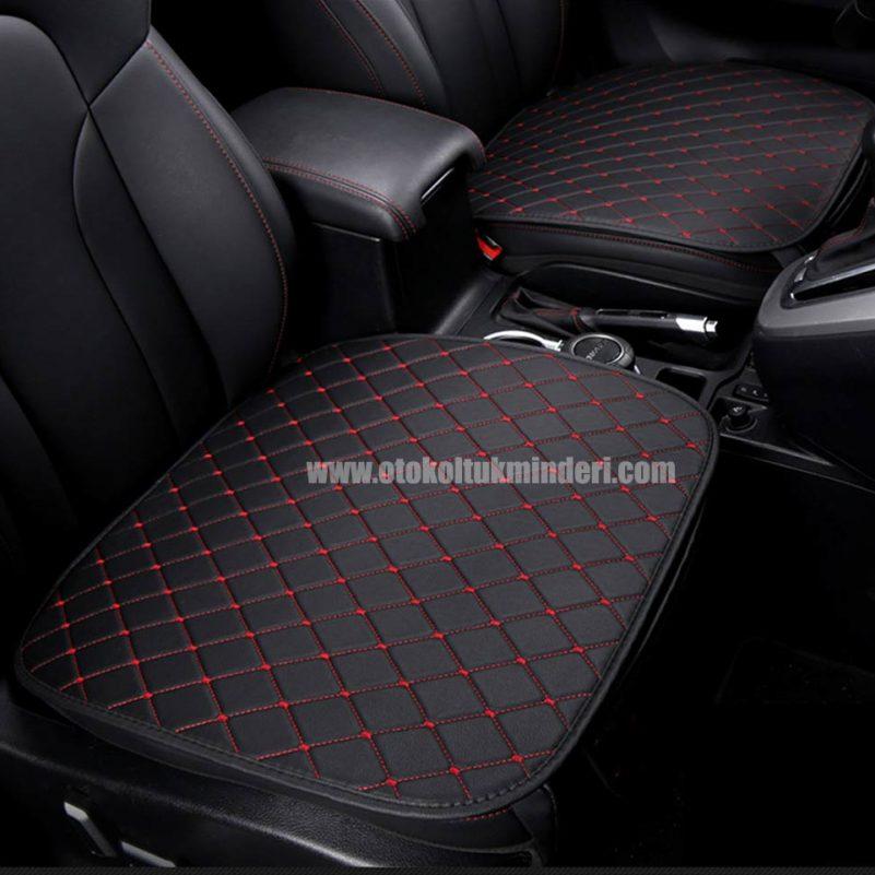 Ford deri minder seti 1 801x801 - Ford Oto Koltuk minderi Serme Deri - Siyah Kırmızı