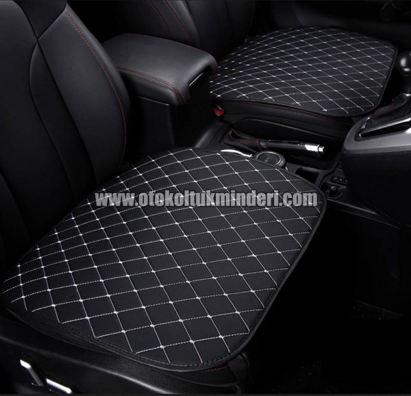 Honda koltuk minderi full set 600x578 - Honda Oto Koltuk minderi Serme Deri - Siyah Beyaz