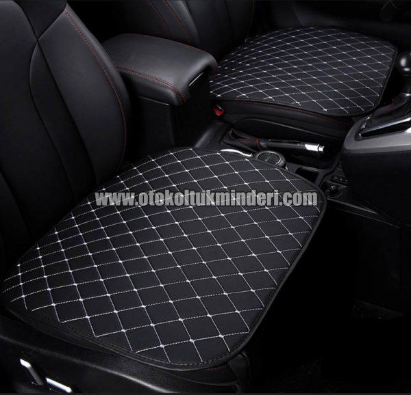 Kia koltuk minderi full set 600x578 - Kia Oto Koltuk minderi Serme Deri - Siyah Beyaz