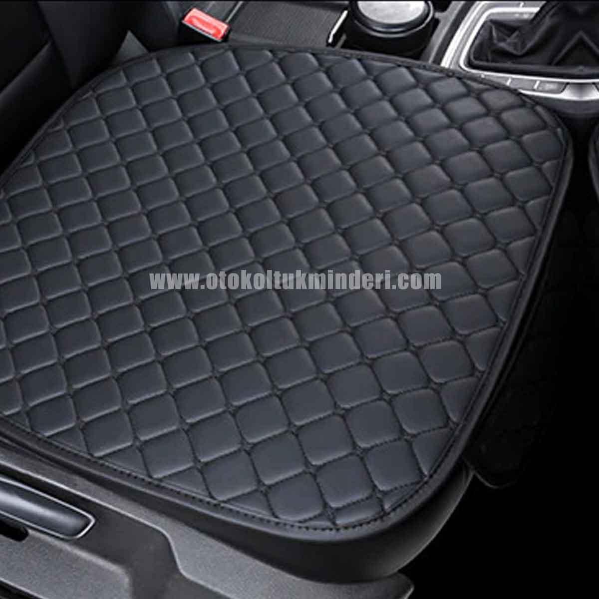 Mini oto koltuk kılıfı - Mini Koltuk minderi Siyah Deri Cepli