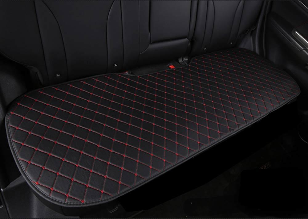 Mini oto koltuk minderi deri 1 - Mini minder 3lü Serme – Siyah Kırmızı Deri