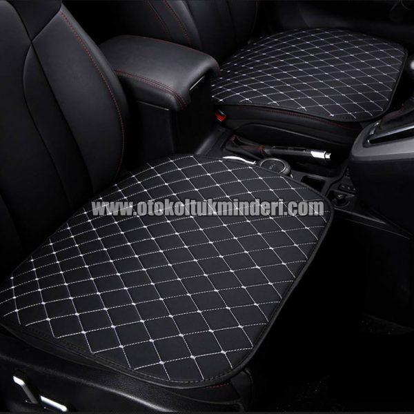 Peugeot koltuk minderi deri 600x600 - Peugeot Koltuk minderi 3lü Serme - Siyah Deri