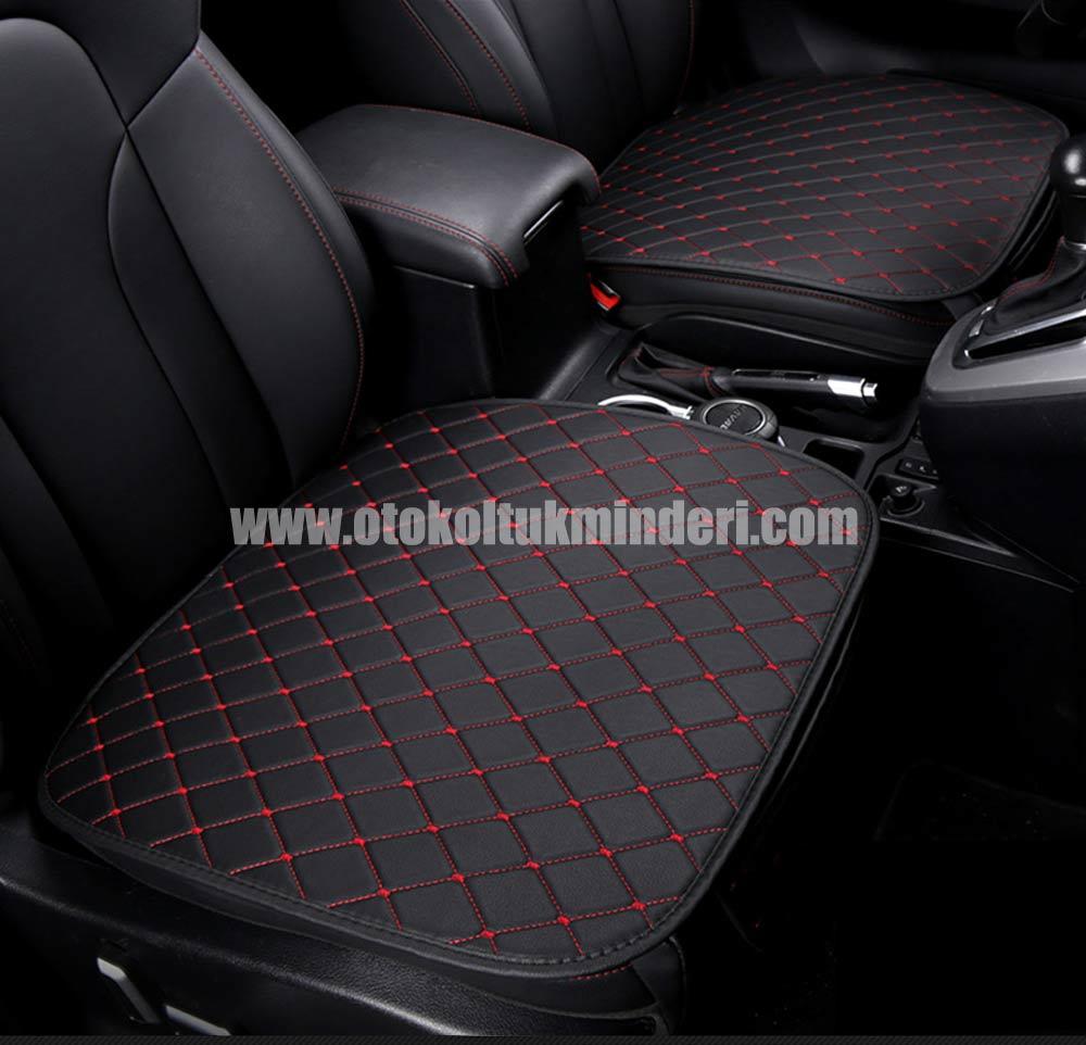 Peugeot oto koltuk minderi serme 1 - Peugeot minder 3lü Serme – Siyah Kırmızı Deri Cepli