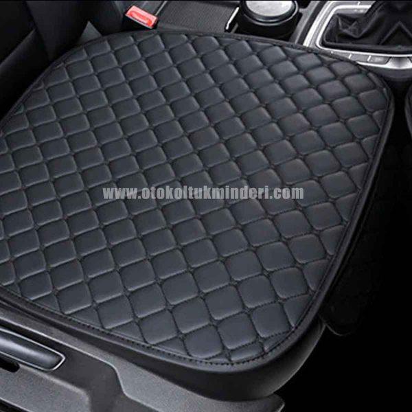 Skoda oto koltuk kılıfı 600x600 - Skoda Koltuk minderi Siyah Deri Cepli